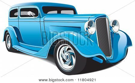 Luz azul Hot Rod