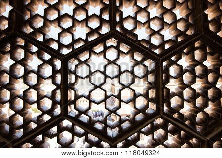Latticework in Amber Fort