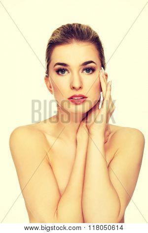 Young beautiful spa woman.