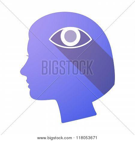 Long Shadow Female Head With An Eye