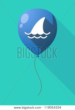 Long Shadow Balloon With A Shark Fin