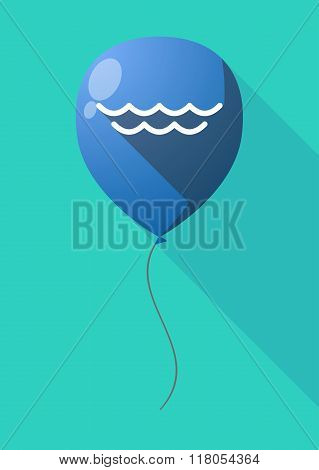 Long Shadow Balloon With A Water Sign