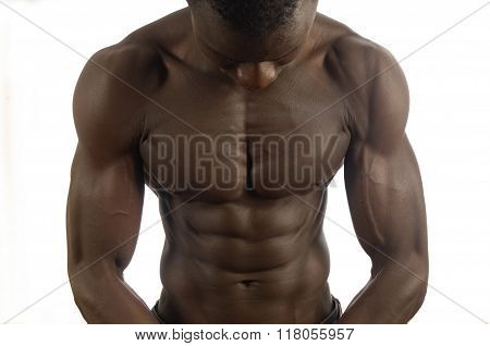 Pectoral of a muscular Man
