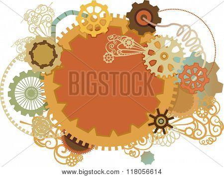 Illustration of Common Cogwheels Frame Design