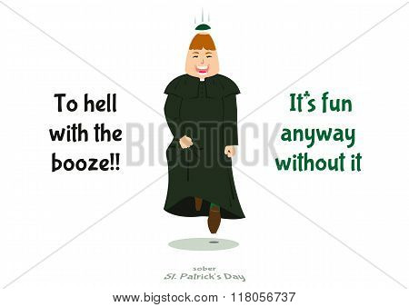 Sober St. Patrick's Day, Vector Illustration