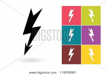 Lightning vector icon
