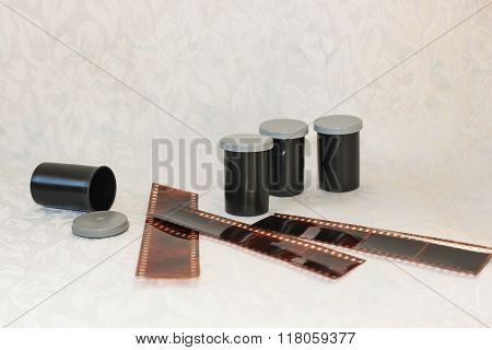 Film for the camera in protective jars