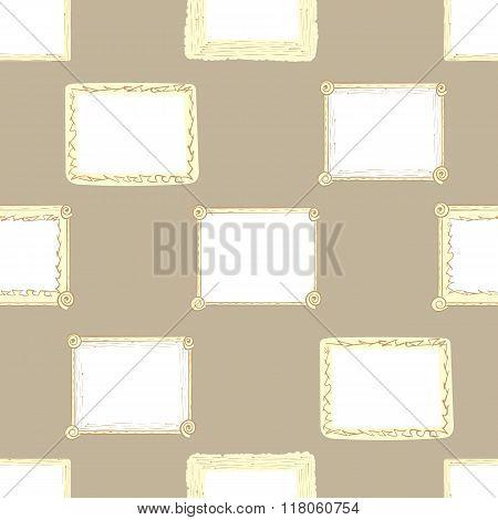 Seamless brown photoframes