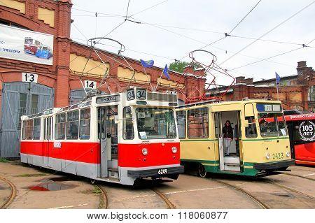Retro Urban Transport Parade 2013, Saint Petersburg, Russia