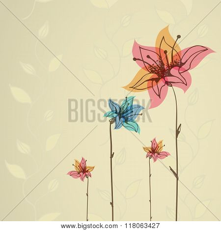 Floral  illustration for cards and invitations. Hand-drawn picture