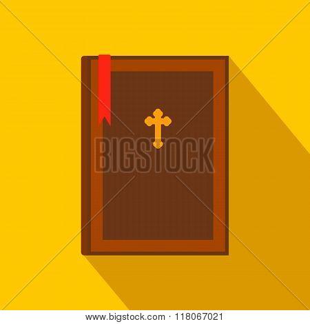 Bible book flat icon