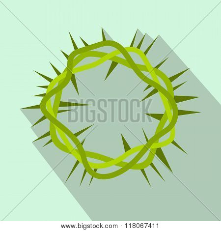 Crown of thorns flat icon