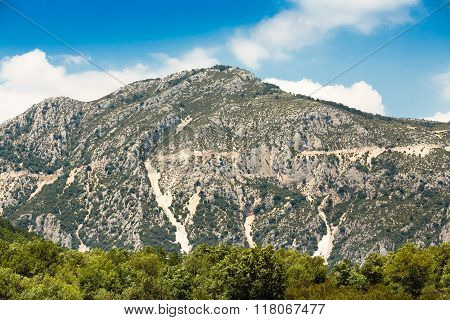 Beautiful landscape of the Gorges Du Verdon in France. Vertical