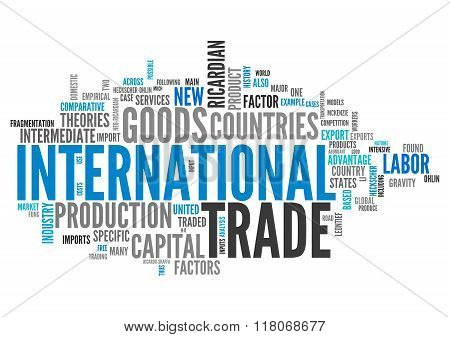 Word Cloud International Trade
