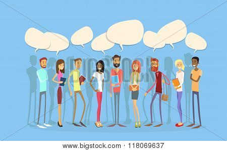Students Group People Chat Bubble Social Network Communication