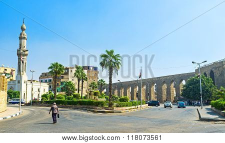 The Aqueduct In Old Cairo