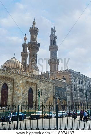 The Minarets Of Al-azhar Mosque