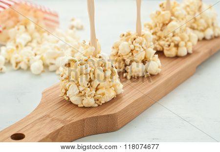 Popcorn Coated With Honey Bee