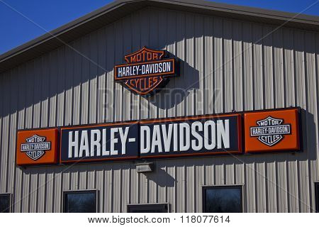 Kokomo, IN - Circa February 2016: Harley-davidson Motorcycle Dealership II