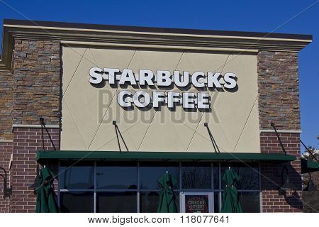 Indianapolis - Circa February 2016: Starbucks Retail Coffee Store IV