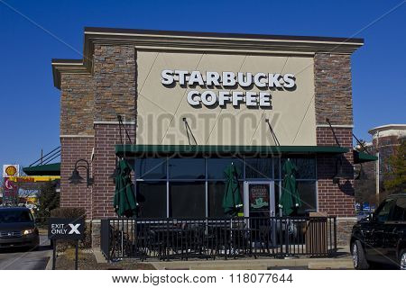 Indianapolis - Circa February 2016: Starbucks Retail Coffee Store V