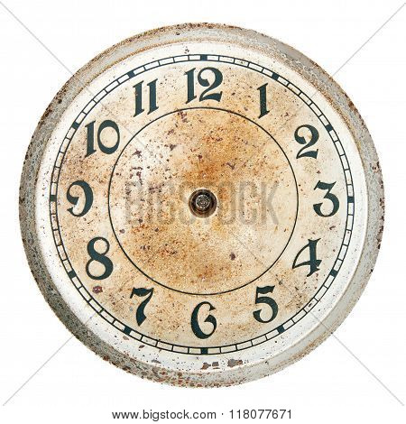 Blank clock dial without hands