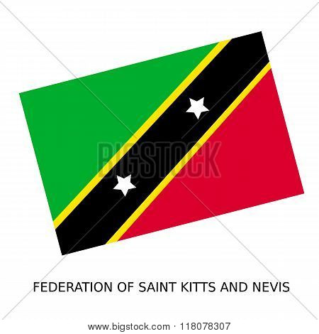 National Flag Of Federation Of Saint Kitts And Nevis