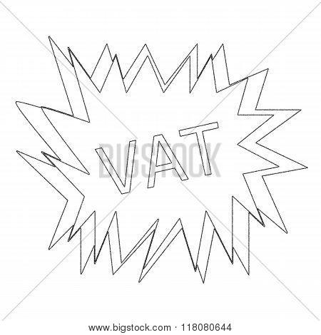 Vat Monochrome Stamp Text On White Blast