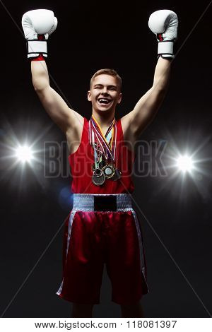 Teen boxer with many medals