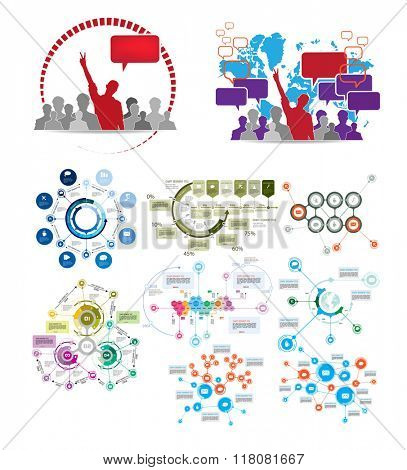 Infographics vector design template