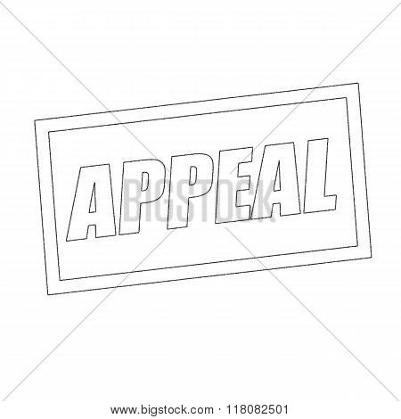 Appeal Monochrome Stamp Text On White