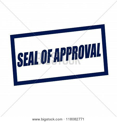Seal Of Approval Blueblack Stamp Text On White