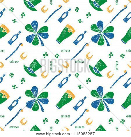 Saint Patrick seamless pattern