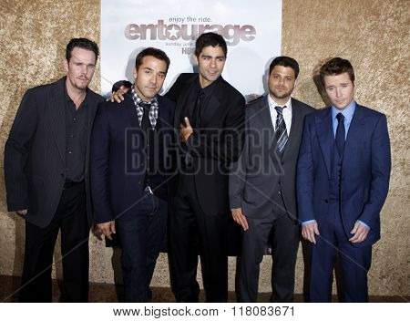 Kevin Dillon, Jeremy Piven, Adrian Grenier, Jerry Ferrara and Kevin Connolly at the Season 7 Premiere of