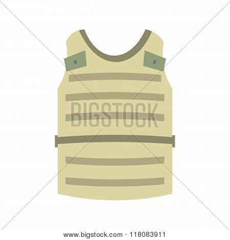 Paintball protective vest flat icon