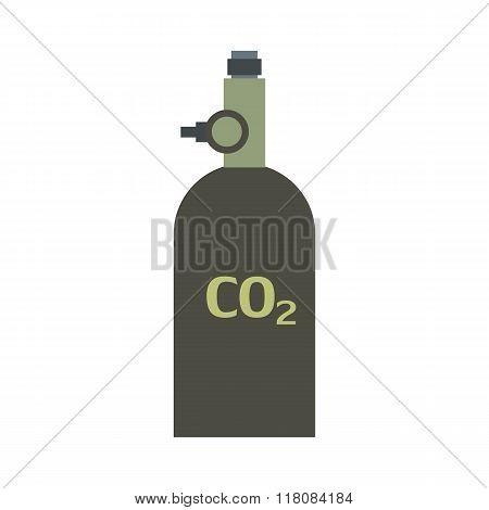 Gas hand grenade flat icon