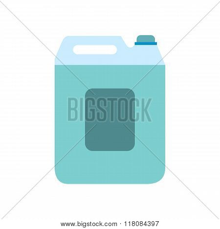 Plastic canister flat icon