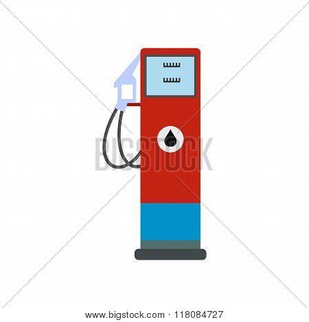 Gasoline refueling flat icon