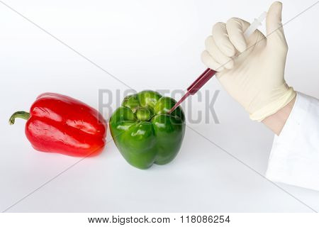 Injection Into Peppers