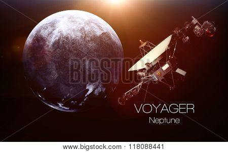 Neptune - Voyager spacecraft. This image elements furnished by NASA.