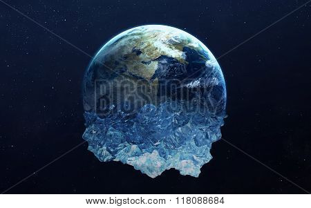 Frozen Earth. This image elements furnished by NASA