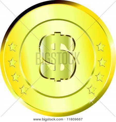 Dollar coin $