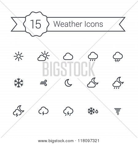 Weather Line Minimal Icons For Your App And Website.