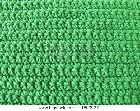 Crochet pattern from single crotchet stitch in green