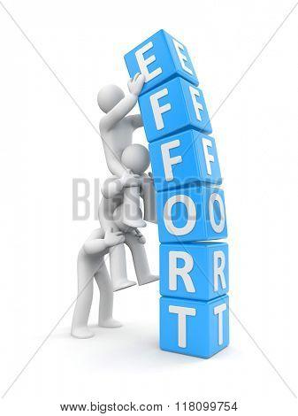 Team effort. Business metaphor