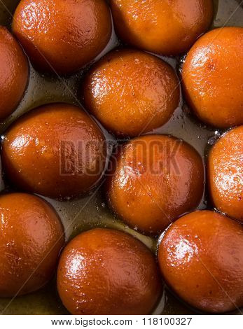 Gulab Jamun or Gulabjam or Gulab Jam, popular indian dessert