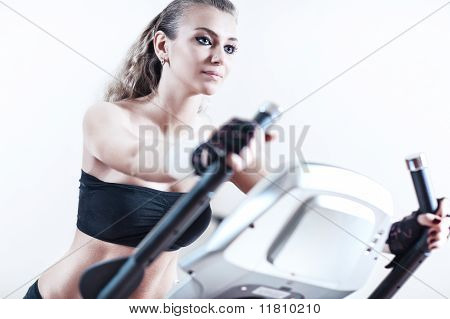 Young Woman Sports Training