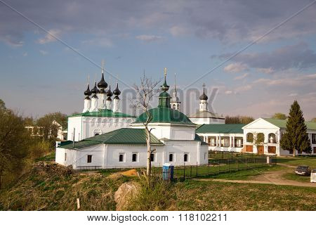 Russian historic Old town Suzdal - an ancient monastery tourist places