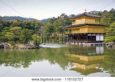Golden Pavilion in Kyoto.