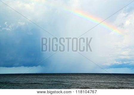 Rainbow And The Cloud Abstract Thailand Kho